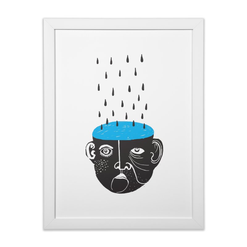 Rainy Brain Home Framed Fine Art Print by Snezana Pupovic SNEP
