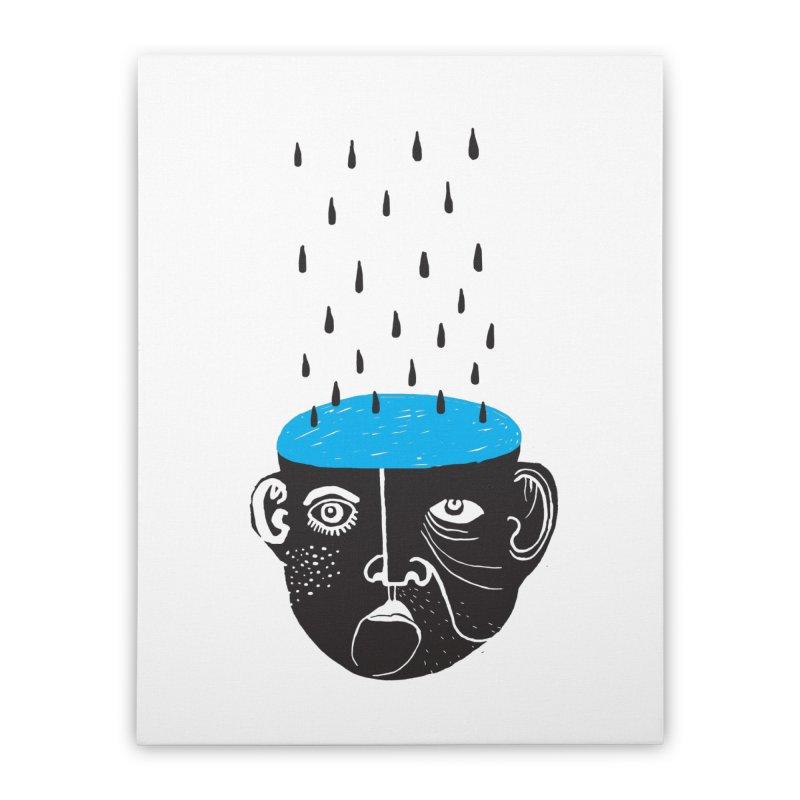 Rainy Brain Home Stretched Canvas by Snezana Pupovic SNEP