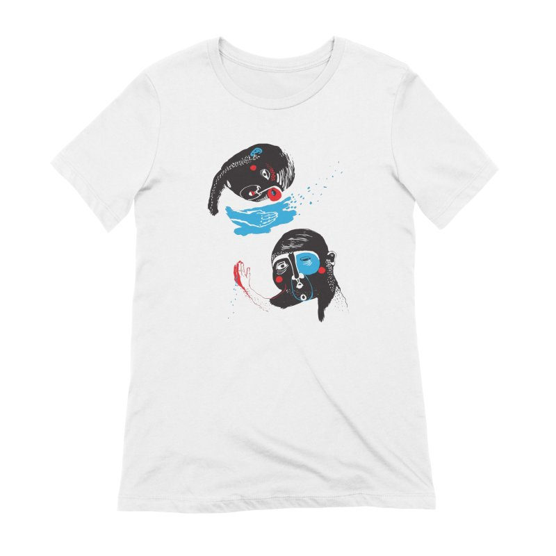 Two Souls Women's T-Shirt by Snezana Pupovic SNEP