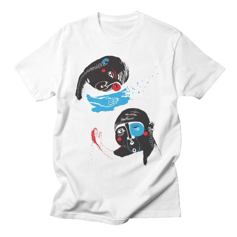 Two Souls Men's T-Shirt by Snezana Pupovic SNEP