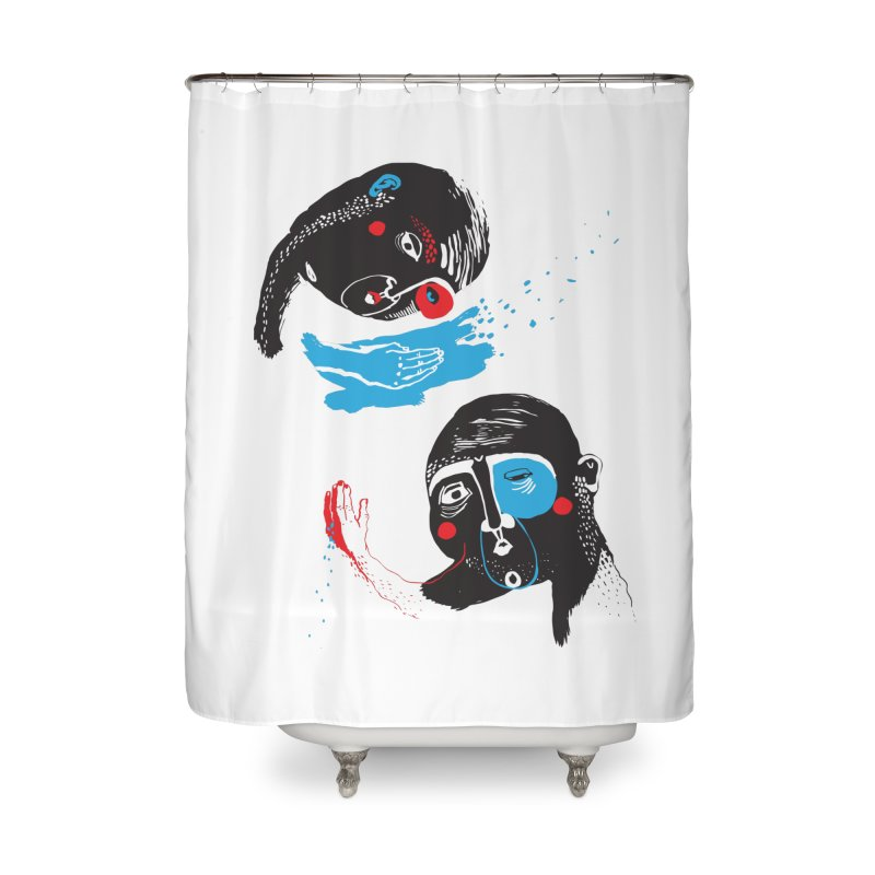 Two Souls Home Shower Curtain by Snezana Pupovic SNEP