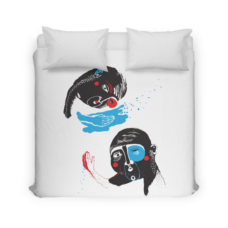 Two Souls Home Duvet by Snezana Pupovic SNEP