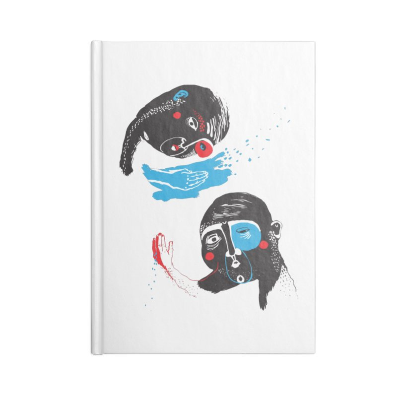 Two Souls Accessories Blank Journal Notebook by Snezana Pupovic SNEP
