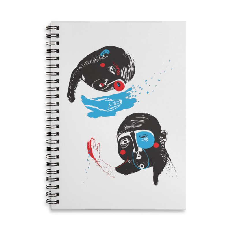 Two Souls Accessories Lined Spiral Notebook by Snezana Pupovic SNEP