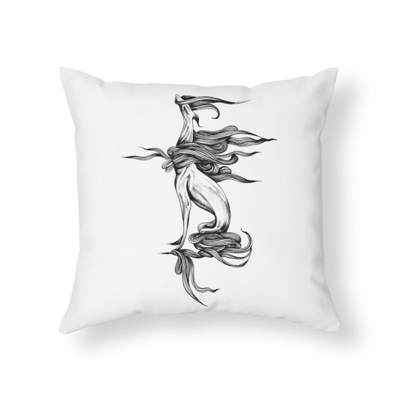 Upon The White Sky by Sarah Gaugler Home Throw Pillow by Snow Tattoo