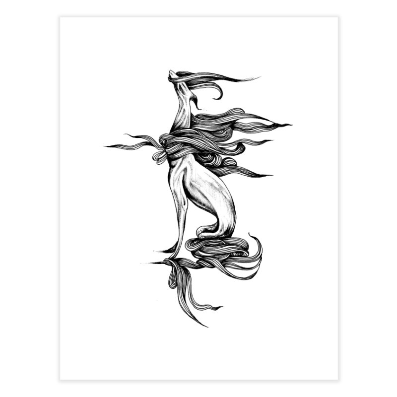 Upon The White Sky by Sarah Gaugler Home Fine Art Print by Snow Tattoo