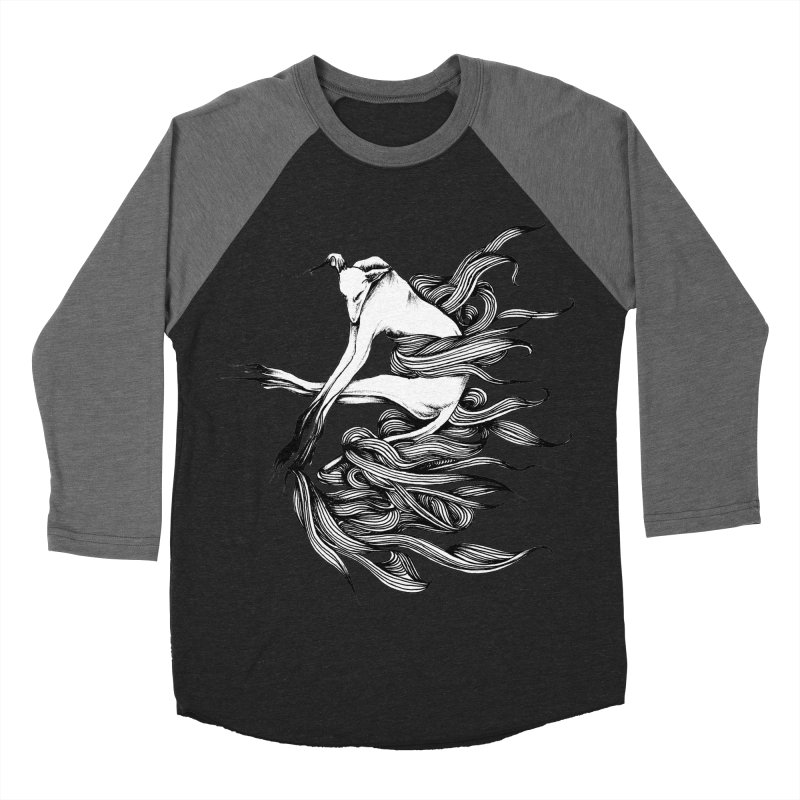 Upon The White Sky 2 by Sarah Gaugler Men's Baseball Triblend Longsleeve T-Shirt by Snow Tattoo
