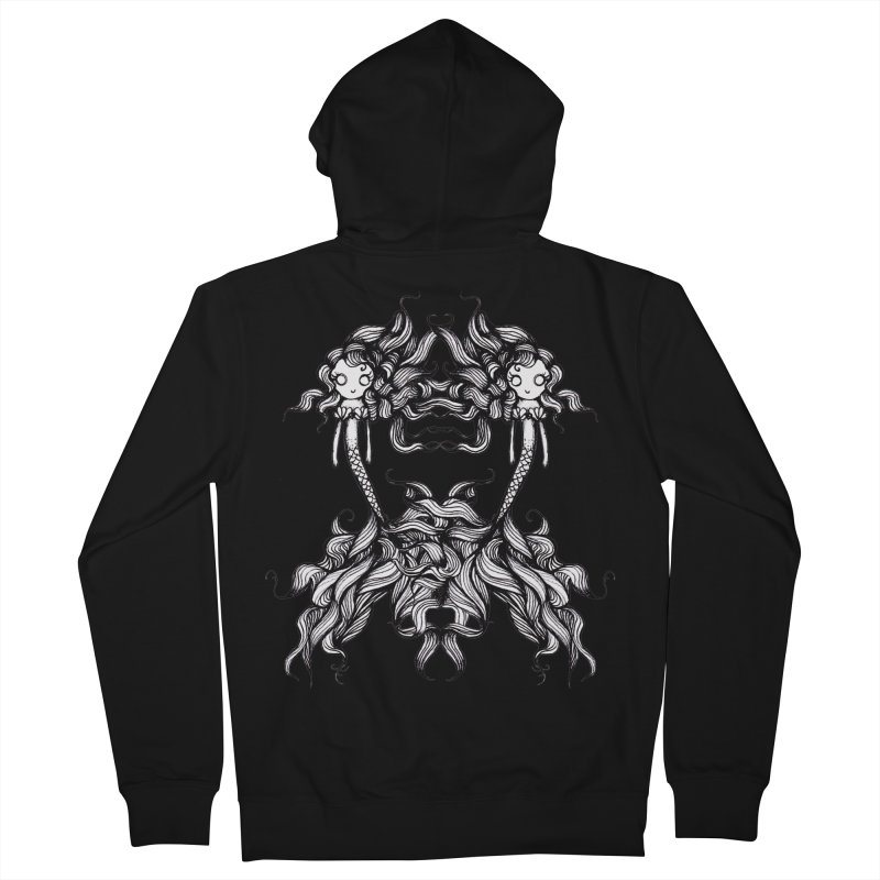Subsea By Sarah Gaugler in Men's French Terry Zip-Up Hoody Black by Snow Tattoo