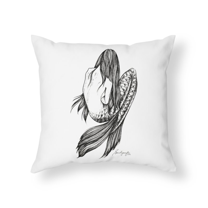 Subsea 5 By Sarah Gaugler Home Throw Pillow by Snow Tattoo