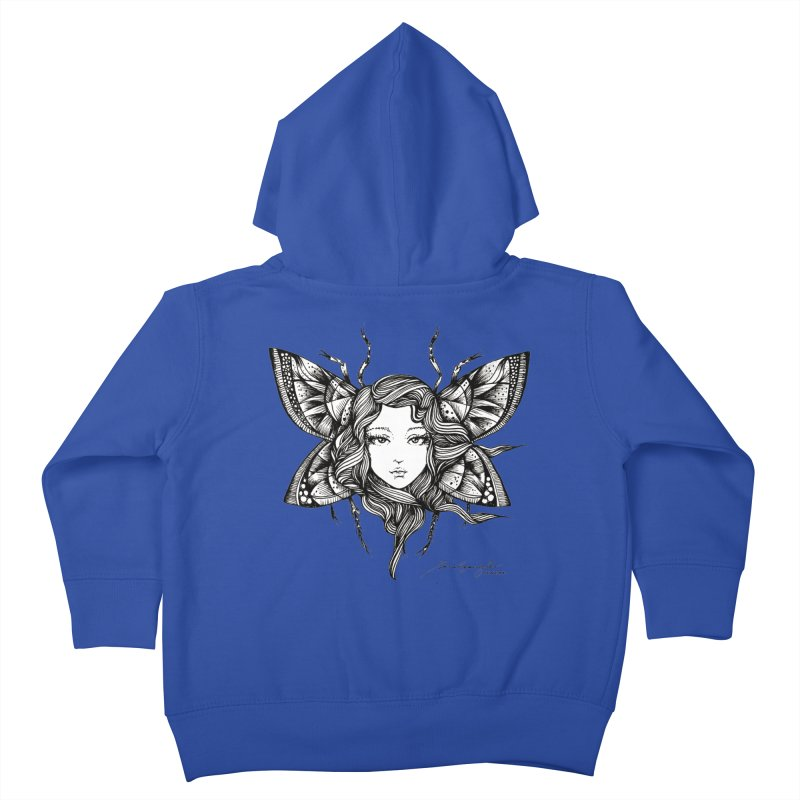 Butterfly By Sarah Gaugler Kids Toddler Zip-Up Hoody by Snow Tattoo