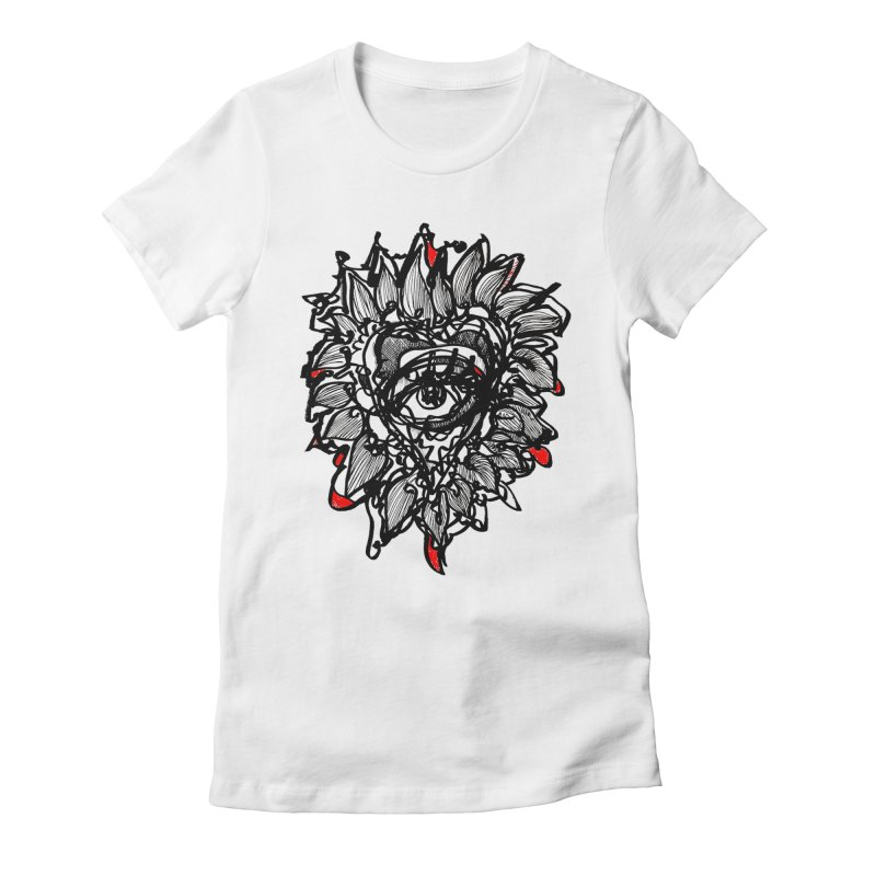 THE HEART SPEAKS OF TRUTH Women's Fitted T-Shirt by Snow Tattoo