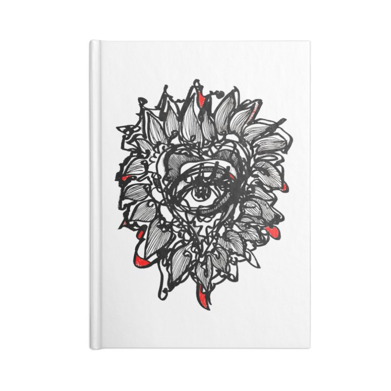 THE HEART SPEAKS OF TRUTH Accessories Blank Journal Notebook by Snow Tattoo