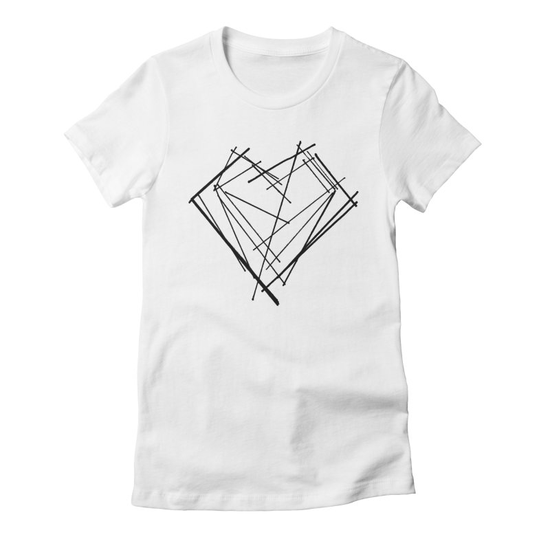 Heart 1 Women's Fitted T-Shirt by Snow Tattoo
