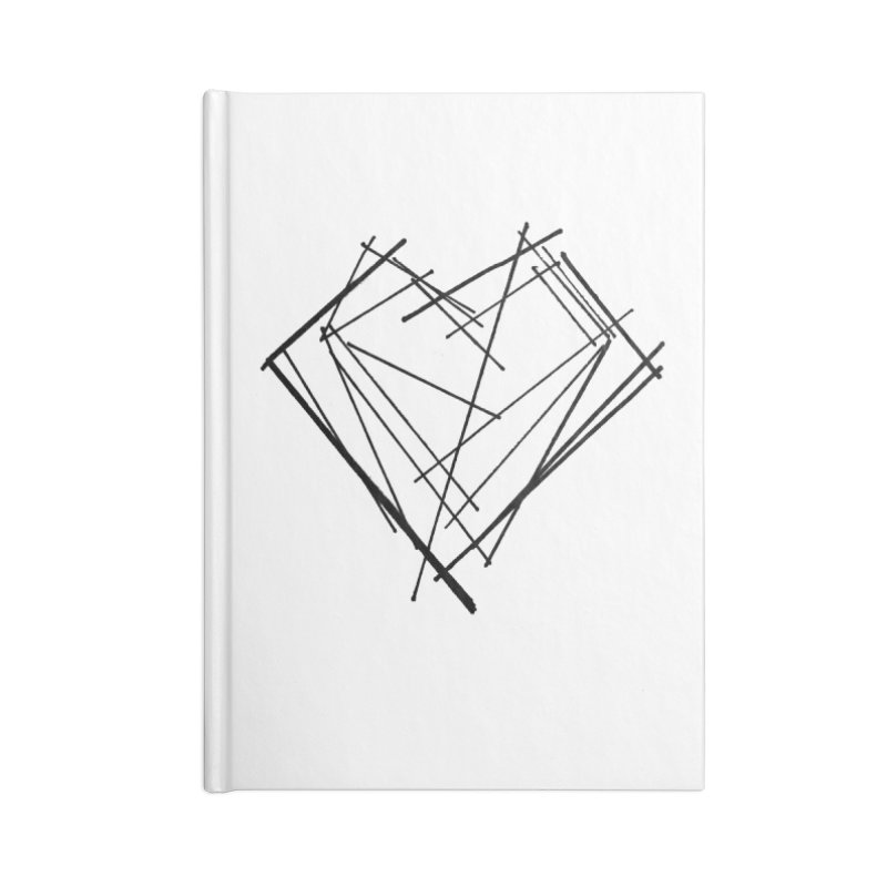 Heart 1 Accessories Blank Journal Notebook by Snow Tattoo