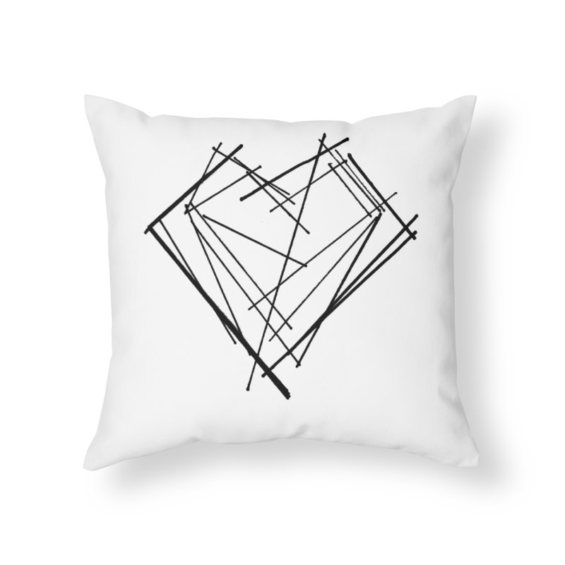 Heart 1 Home Throw Pillow by Snow Tattoo