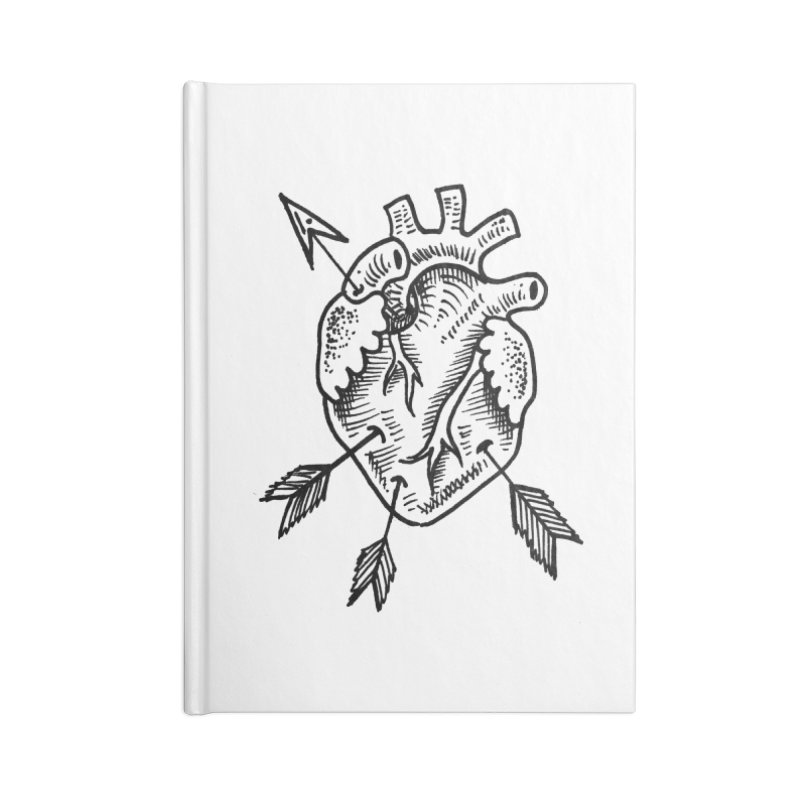 Heart 2 Accessories Blank Journal Notebook by Snow Tattoo