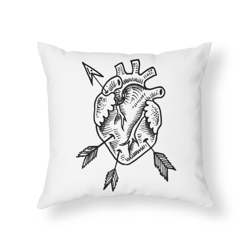Heart 2 Home Throw Pillow by Snow Tattoo