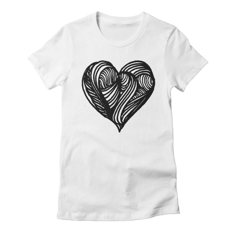 Hear 4 Women's Fitted T-Shirt by Snow Tattoo