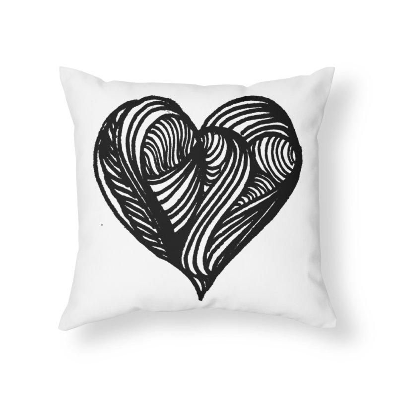 Hear 4 Home Throw Pillow by Snow Tattoo