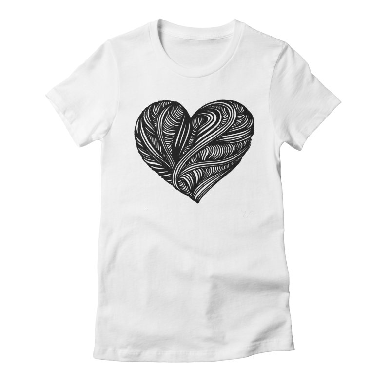 Heart 5 Women's Fitted T-Shirt by Snow Tattoo