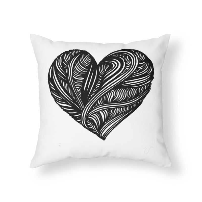 Heart 5 Home Throw Pillow by Snow Tattoo
