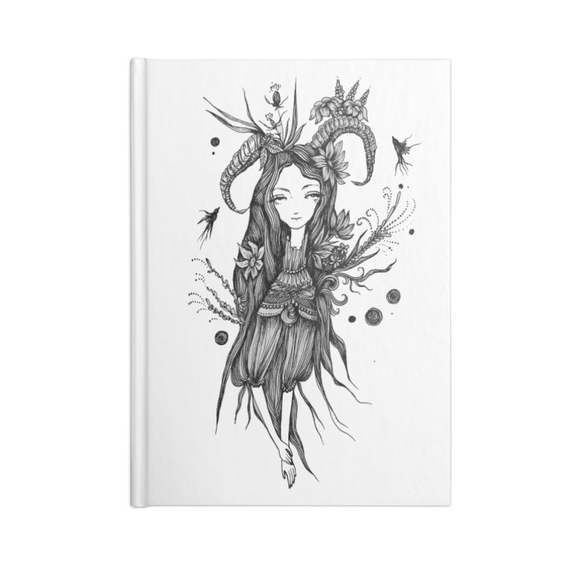 Aeterna Tranquillitas Accessories Blank Journal Notebook by Snow Tattoo