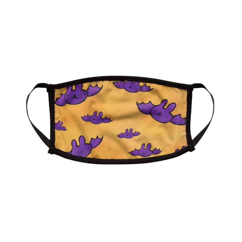 Purple Bats Mask Accessories Face Mask by Sober Rabbit