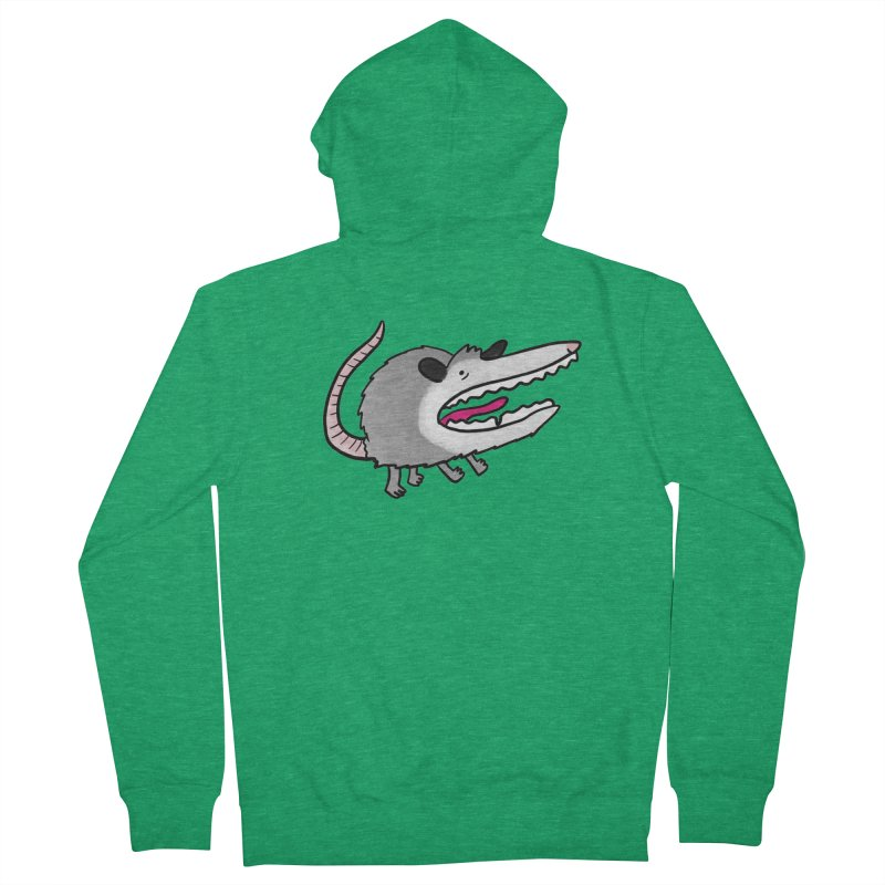 Screaming Possum   Sweatshirts & Hoodies Women's Zip-Up Hoody by Sober Rabbit