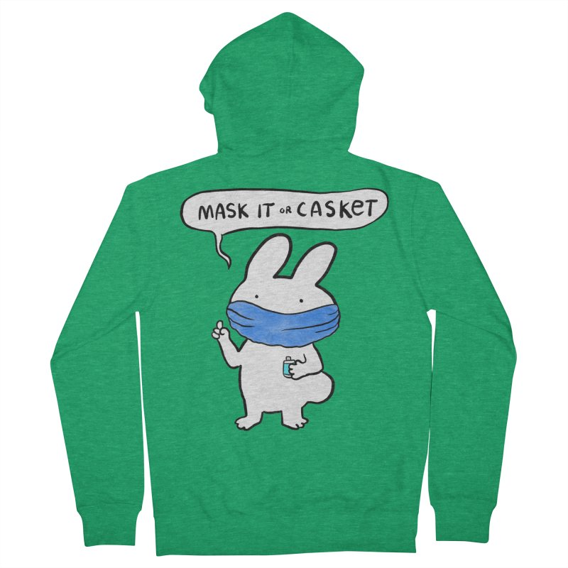 Mask It Or Casket   Hoodie Women's Zip-Up Hoody by Sober Rabbit