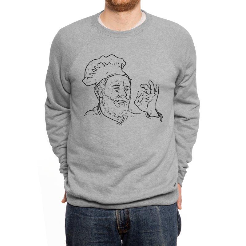 Papa Riker's Pizza Men's Sweatshirt by Sobreiro's Shop
