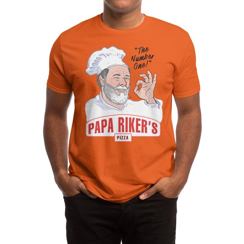 Papa Riker's Pizza - Color Men's T-Shirt by Sobreiro's Shop