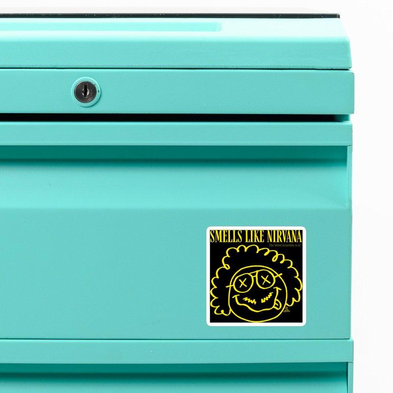 The Weird Accordion to Al - Smells like Nirvana Accessories Magnet by Sobreiro's Shop