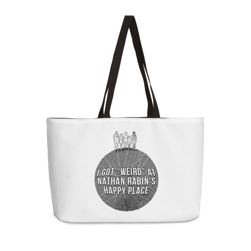 """I got """"Weird"""" at Nathan Rabin's Happy Place Accessories Bag by Sobreiro's Shop"""