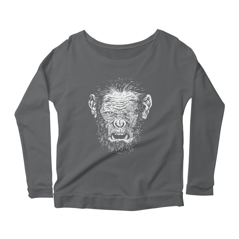 Chimp Women's Longsleeve Scoopneck  by Sobreiro's Shop
