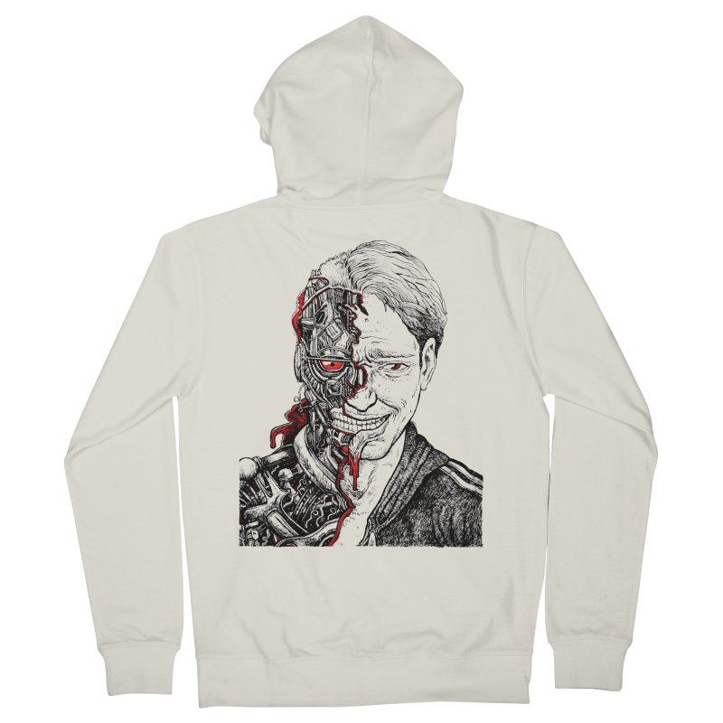 Cyborg Men's Zip-Up Hoody by Sobreiro's Shop