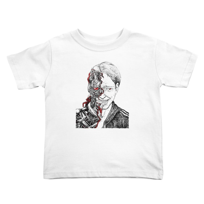 Cyborg Kids Toddler T-Shirt by Sobreiro's Shop