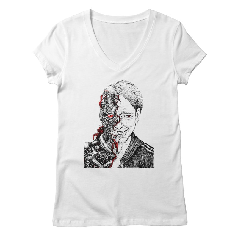 Cyborg Women's V-Neck by Sobreiro's Shop