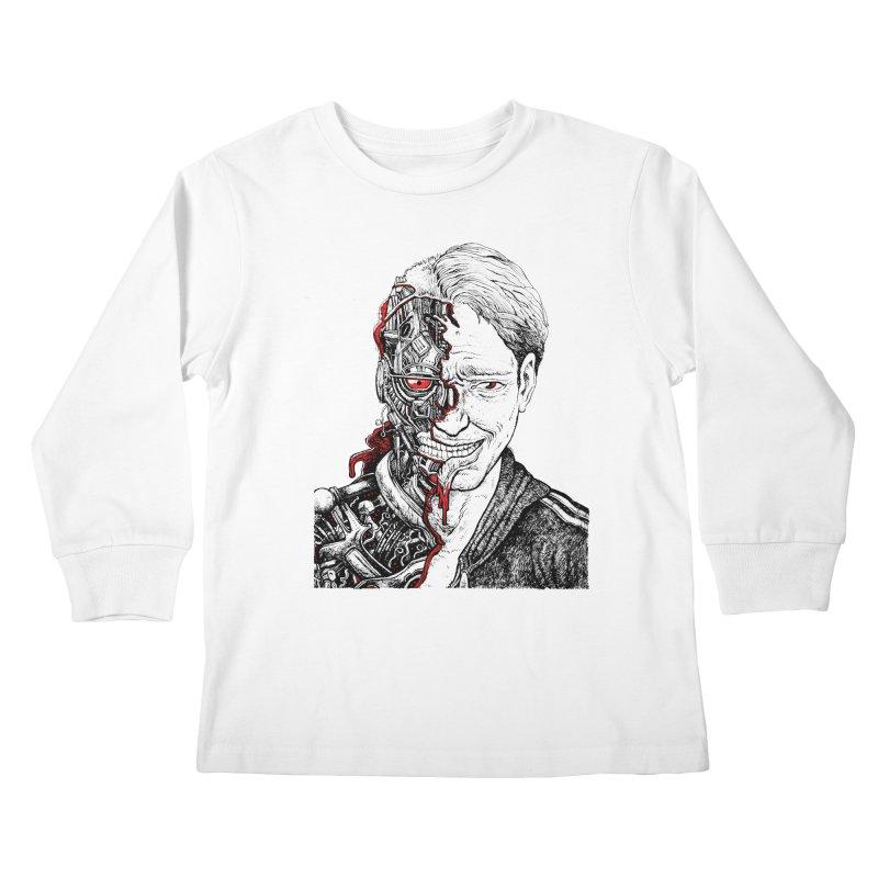 Cyborg Kids Longsleeve T-Shirt by Sobreiro's Shop