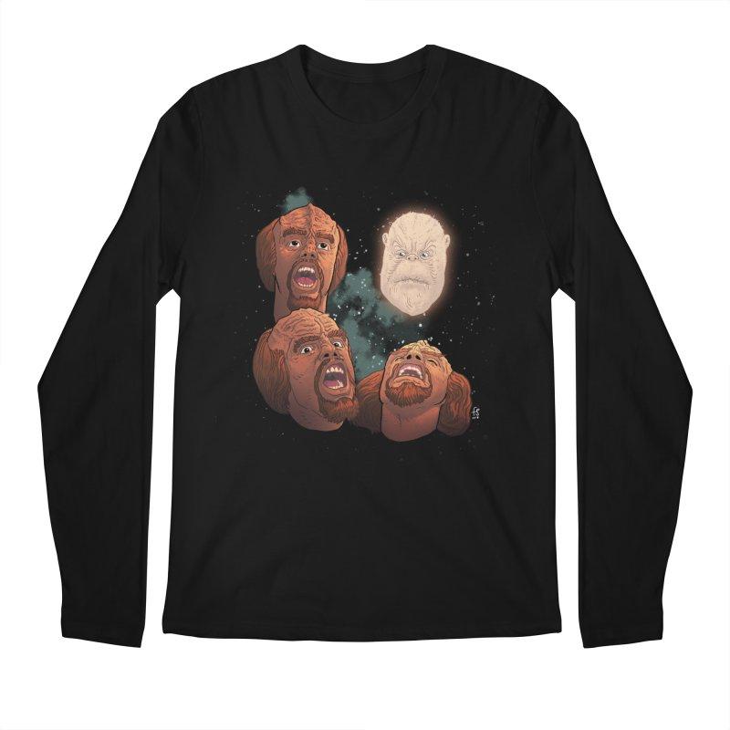 Three Worf Morn Men's Longsleeve T-Shirt by Sobreiro's Shop