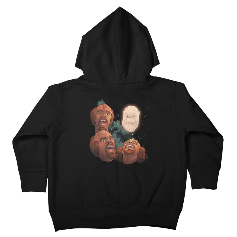 Three Worf Morn Kids Toddler Zip-Up Hoody by Sobreiro's Shop