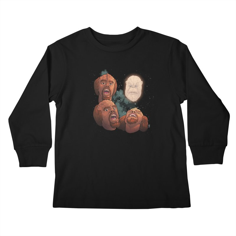 Three Worf Morn Kids Longsleeve T-Shirt by Sobreiro's Shop