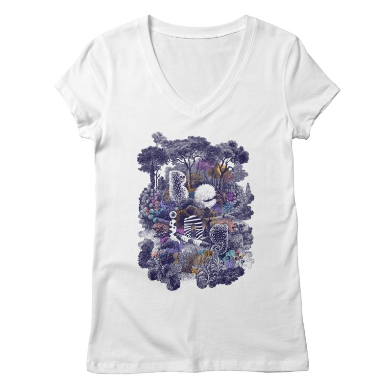 Biodiverse 2 Women's V-Neck by SocialFabrica Artist Shop