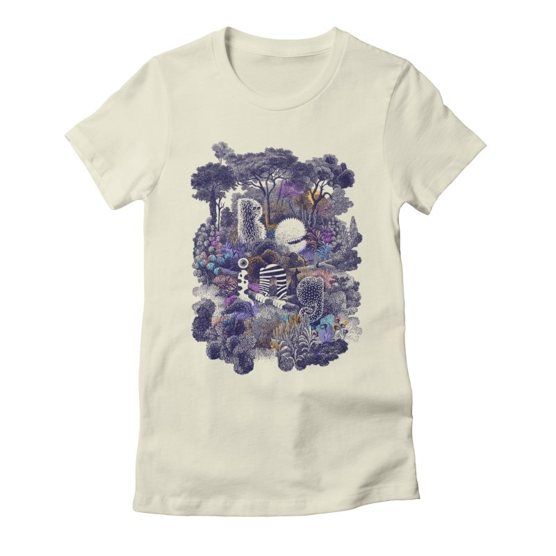 Biodiverse 2 Women's Fitted T-Shirt by SocialFabrica Artist Shop