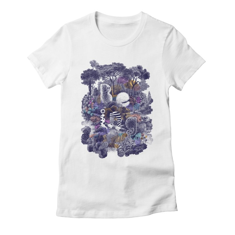 Biodiverse 2 Women's Fitted T-Shirt by SocialFabrica Artist Shop