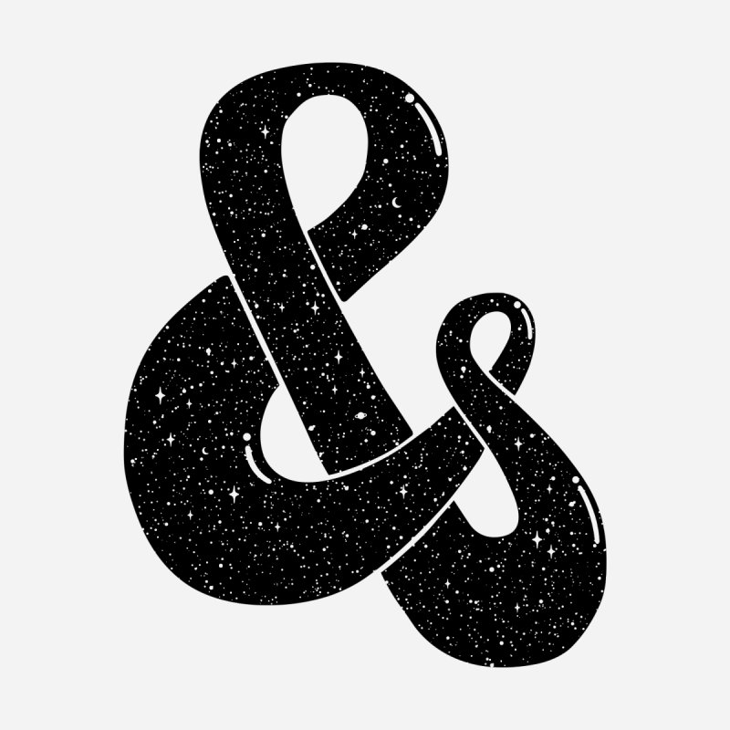 Ampersand Then Some None  by SocialFabrica Artist Shop