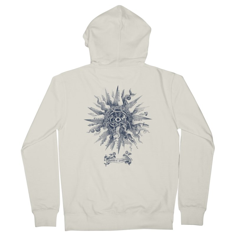 Immoral Compass Men's Zip-Up Hoody by SocialFabrica Artist Shop