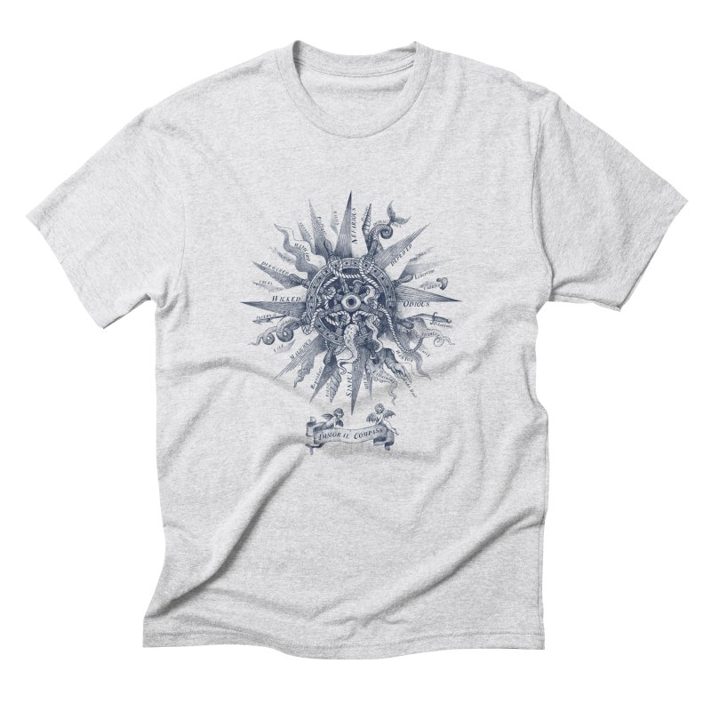 Immoral Compass Men's Triblend T-shirt by SocialFabrica Artist Shop