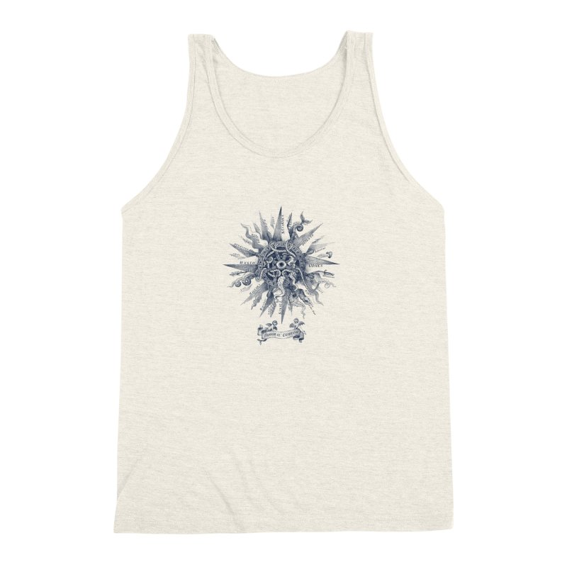Immoral Compass Men's Triblend Tank by SocialFabrica Artist Shop