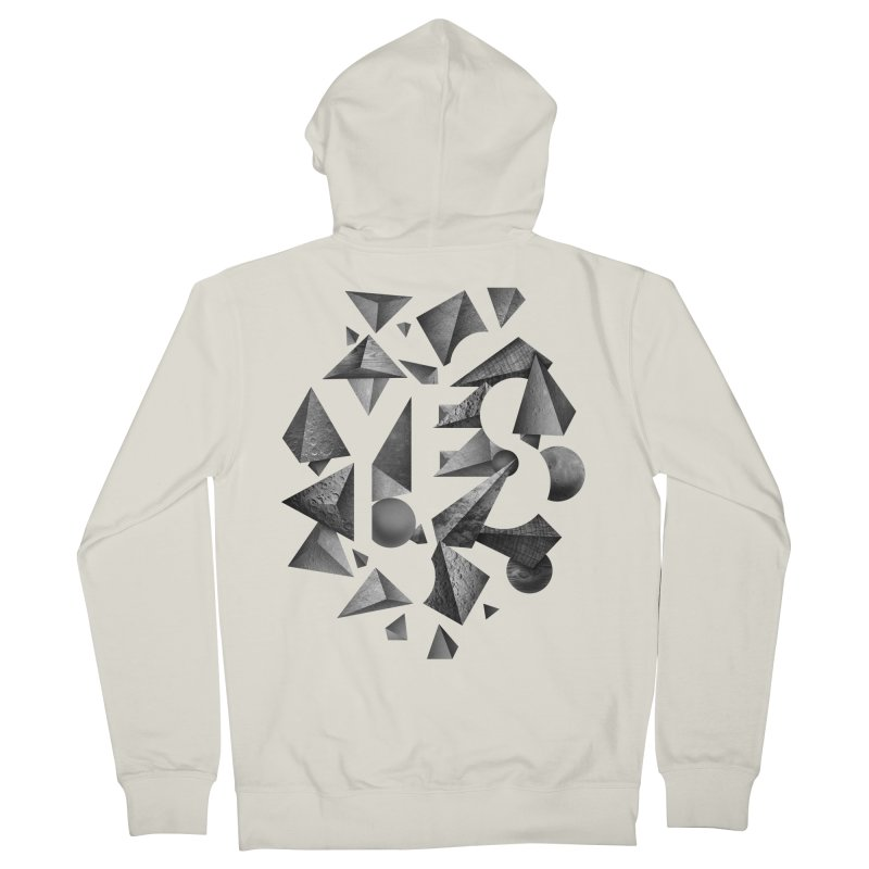 Non Negative Space Men's Zip-Up Hoody by SocialFabrica Artist Shop