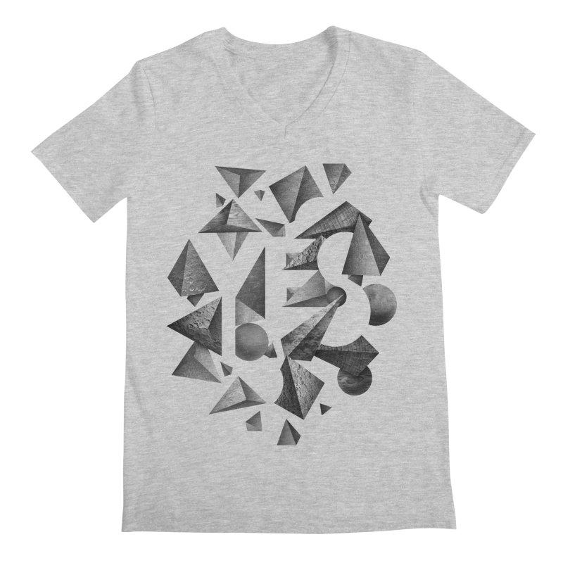 Non Negative Space Men's V-Neck by SocialFabrica Artist Shop